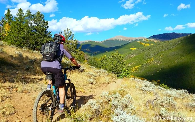 Mountain biking Canyon Creek near Whitepine.