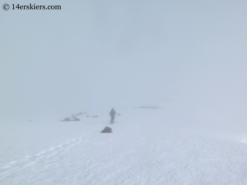 Scott Edlin skinning the southeast ridge to backcountry ski on James Peak.