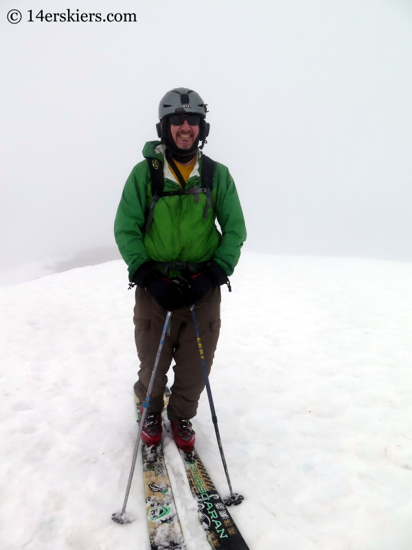 Scott Edlin on the summit of James Peak, backcountry skiing.