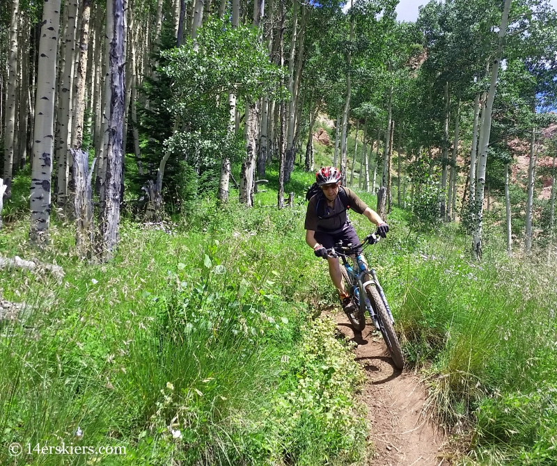 Frank Konsella mountain biking Teocalli Ridge Trail near Crested Butte