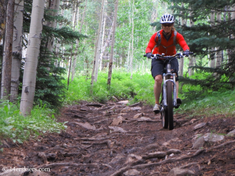 Brittany Konsella descending 409.5 near Crested Butte