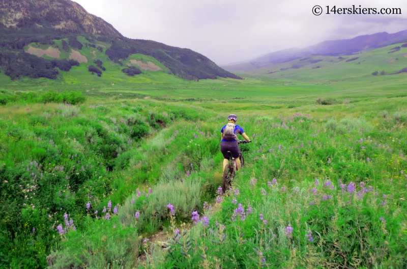 Brittany Konsella mountain biking Strand Bonus near Crested Butte