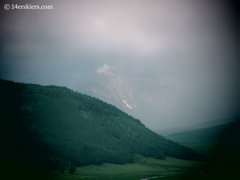 Mount Gothic in rain storm.