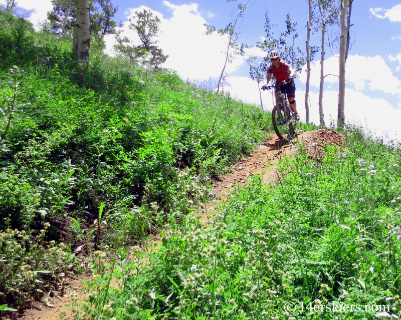 Brittany Konsella mountain biking Teocalli Ridge Trail near Crested Butte