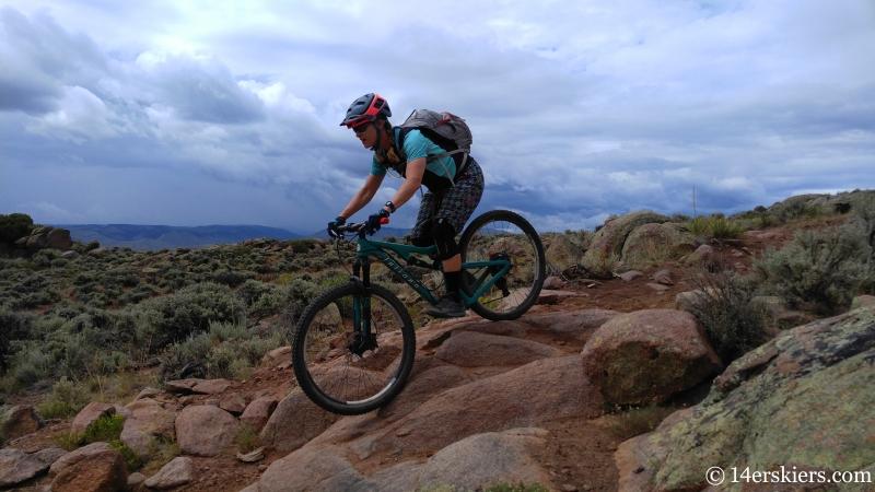 July mountain biking at Hartman Rocks.