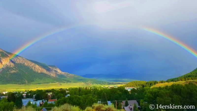 Rainbow in Crested Butte in July