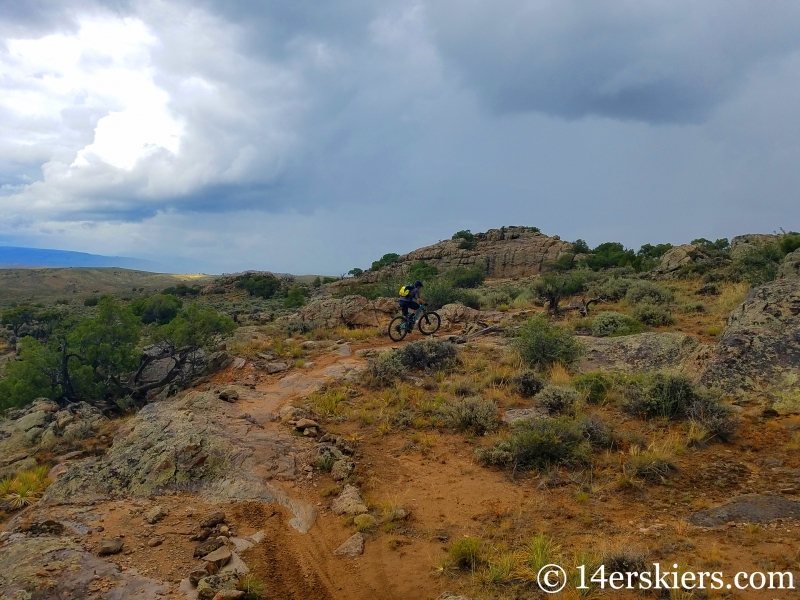 July mountain biking at Hartman Rocks.