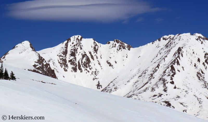 Peak Z, backcountry skiing in the Gore Range, Colorado.
