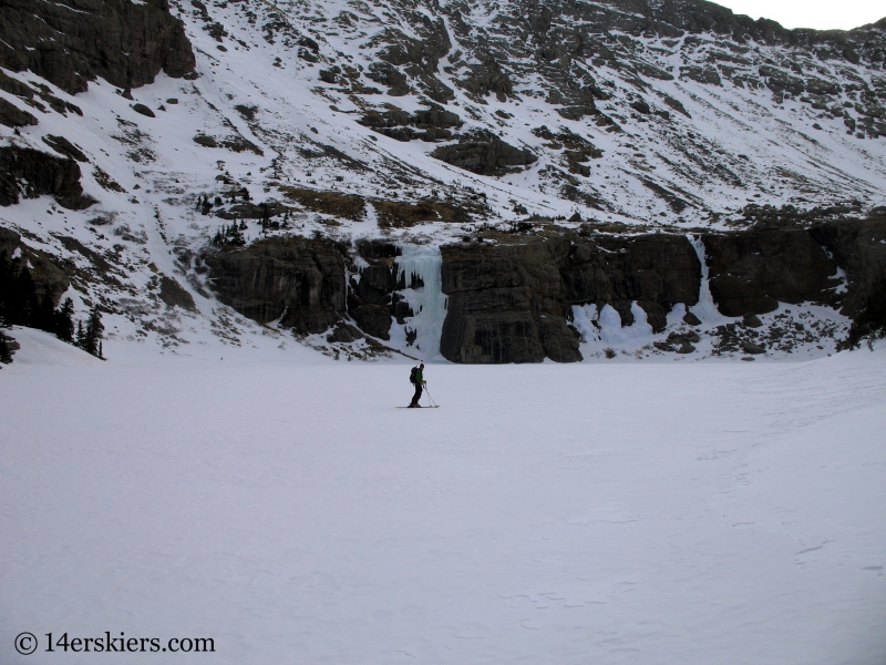 Ice falls on the approach to ski Kit Carson.