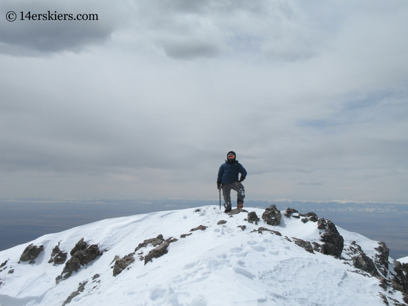 Mark on summit of Kit Carson.