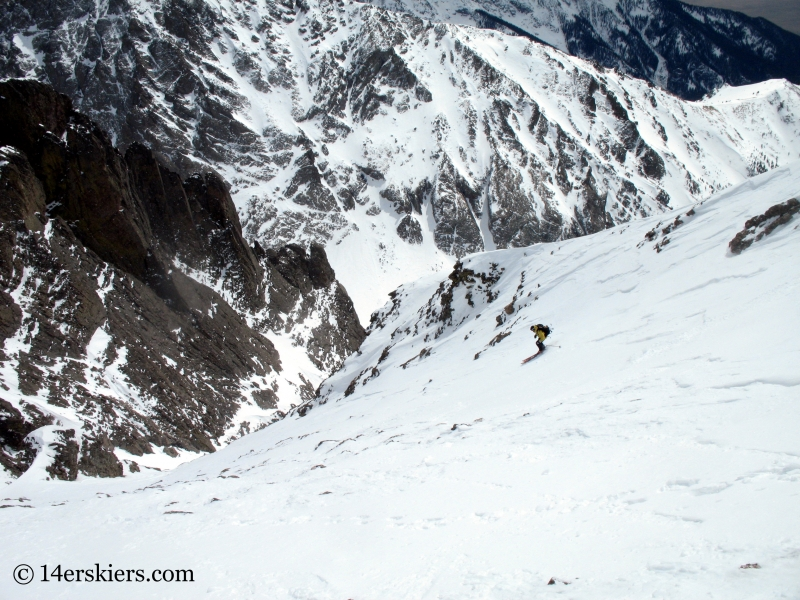 Frank Konsella backcountry skiing on Kit Carson.