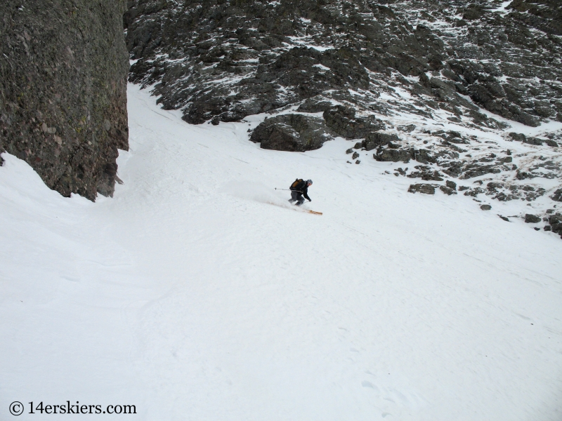 Mark Cavaliero backcountry skiing on Kit Carson.