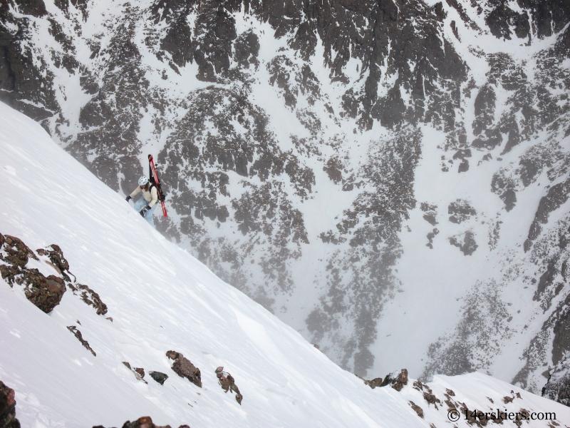 Brittany Walker Konsella climbing to ski Kit Carson.