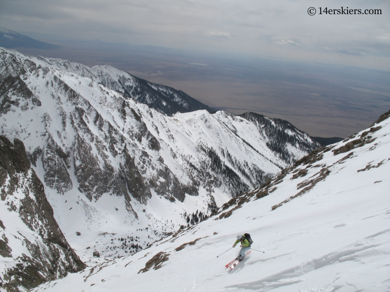 Brittany Walker Konsella backcountry skiing on Kit Carson.