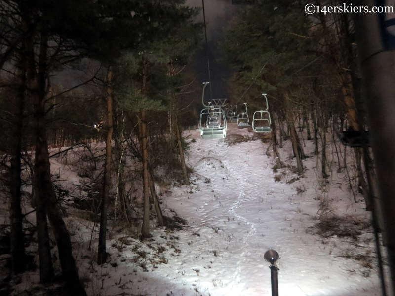 Night skiing at YongPyong