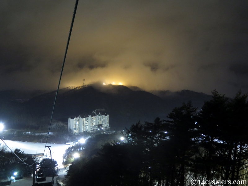 Korea night skiing