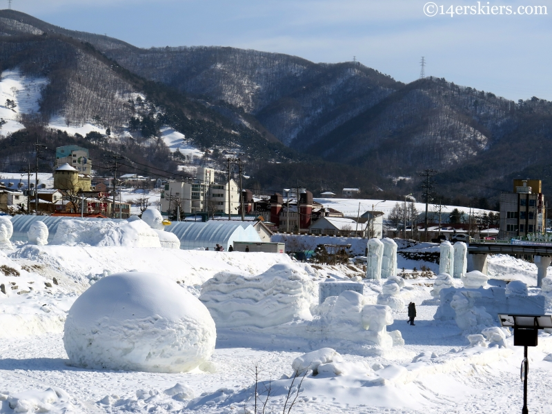Korean snow sculptures