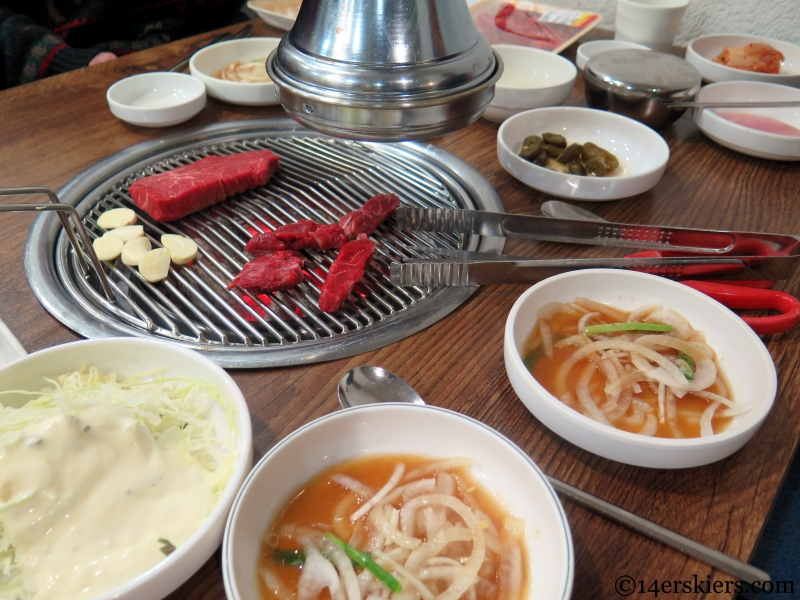typical Korean BBQ side dishes