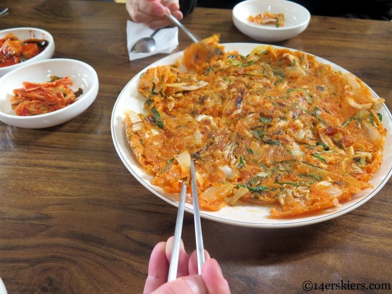 kim chi jeon korean food