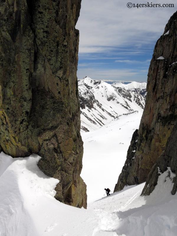 la plata range ski descent