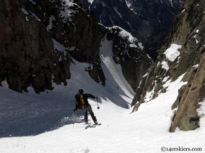 skiing the la platas