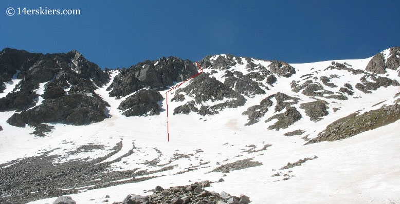 North Face of La Plata ski line.