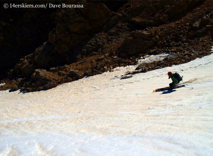 Frank Konsella backcountry skiing La Plata Peak.