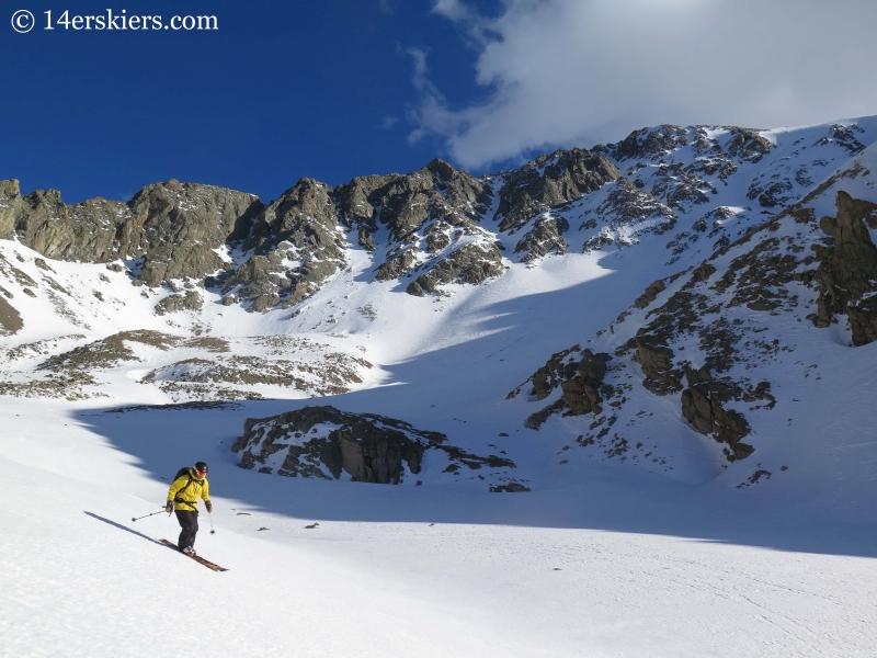 Mark Cavaliero and the north side of La Plata Peak.