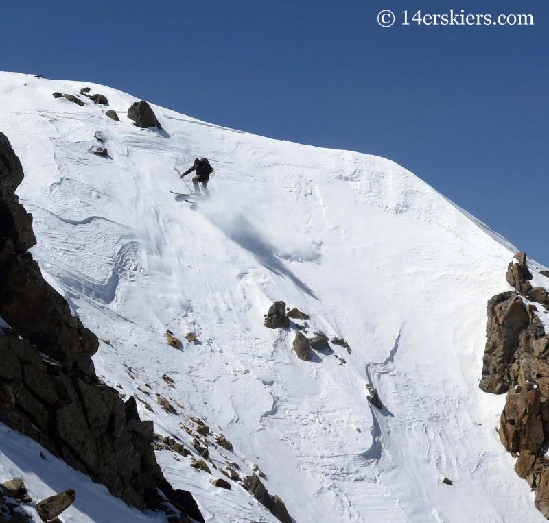 Josh Macak backcountry skiing on La Plata.