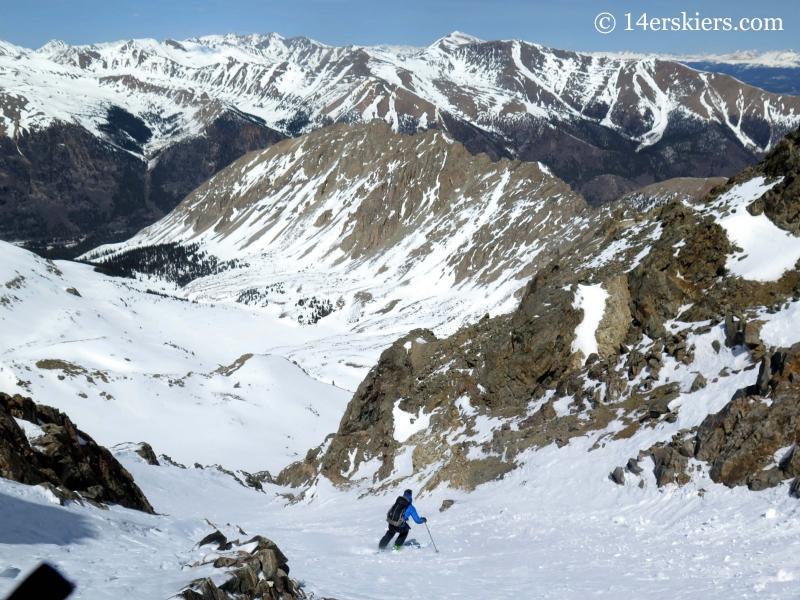 Pete Sowar backcountry skiing on La Plata.