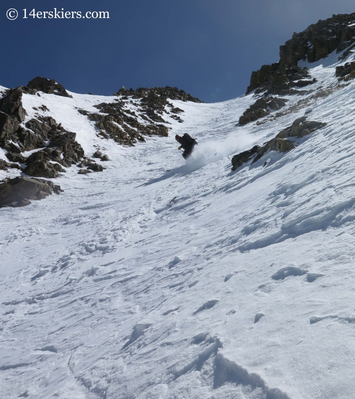 Josh Macak backcountry skiing on La Plata.