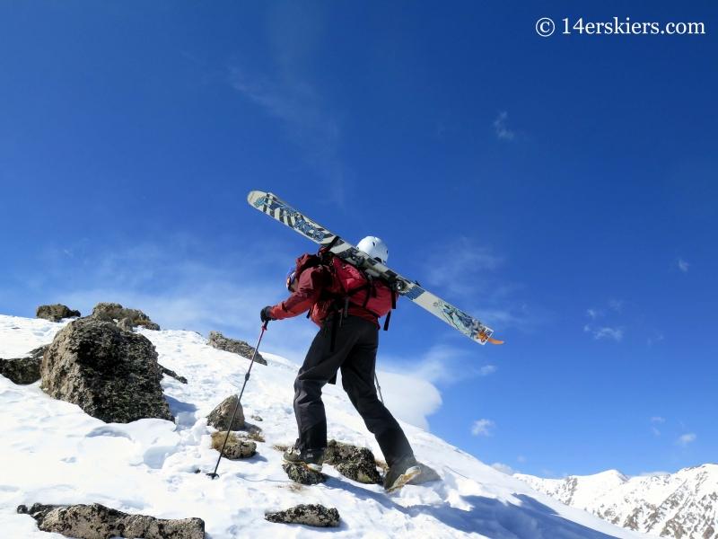 Frank Konsella ascending La Plata peak.
