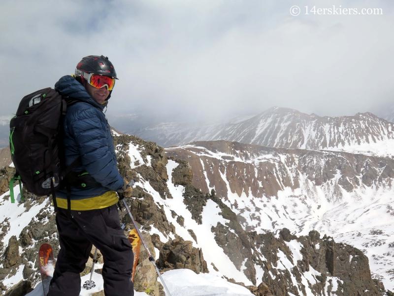 Mark Calaliero on top of La Plata peak.