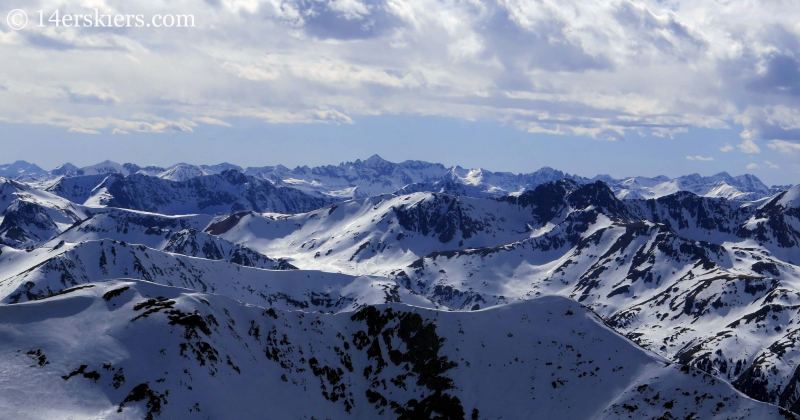 View of the Sawatch Range and the Elks from La Plata Peak.