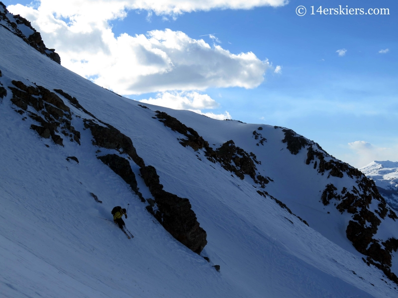 Mark Cavaliero backcountry skiing on La Plata peak