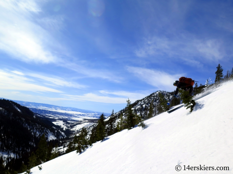 Larry Fontaine backcountry skiing in Steamboat.
