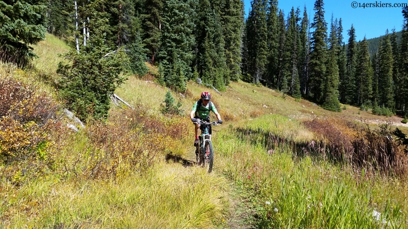 lily lake mountain biking crested butte