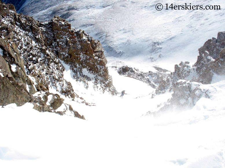 Frank backcountry skiing on Mount Lincoln