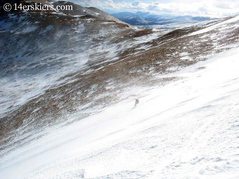 Frank Konsella backcountry skiing on Mount Lincoln.