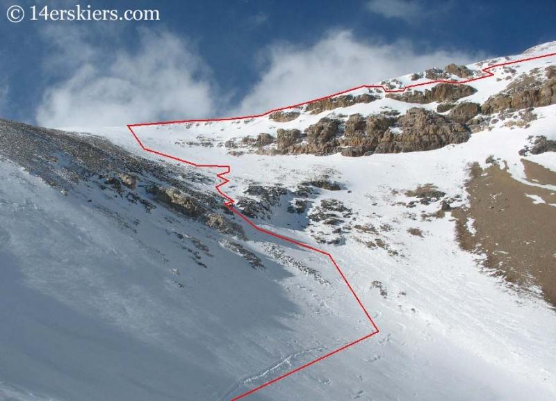 ski line on Mount Lincoln.