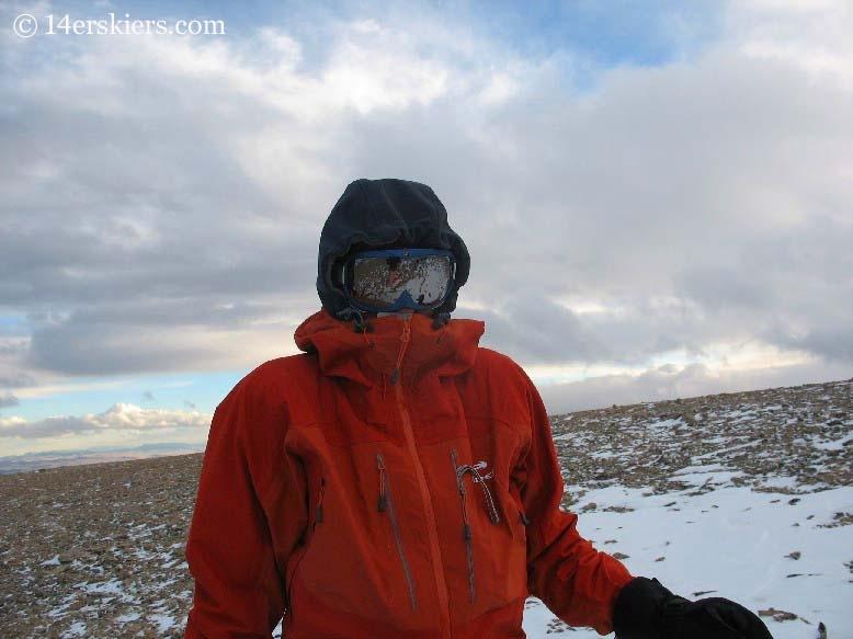 Frank Konsella backcountry skiing on Mount Bross