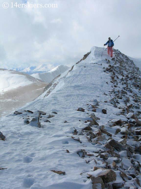 Hiking ridge on Mount Lincoln.