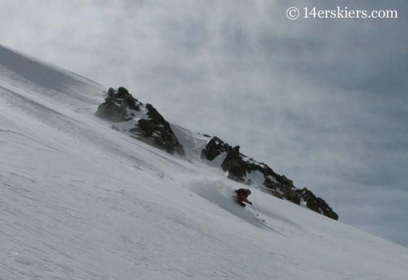 Frank Konsella backcountry skiing on Mount Lindsey