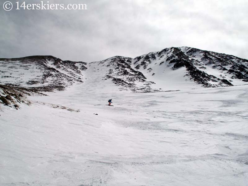 Brittany Walker Konsella backcountry skiing on Mount Lindsey