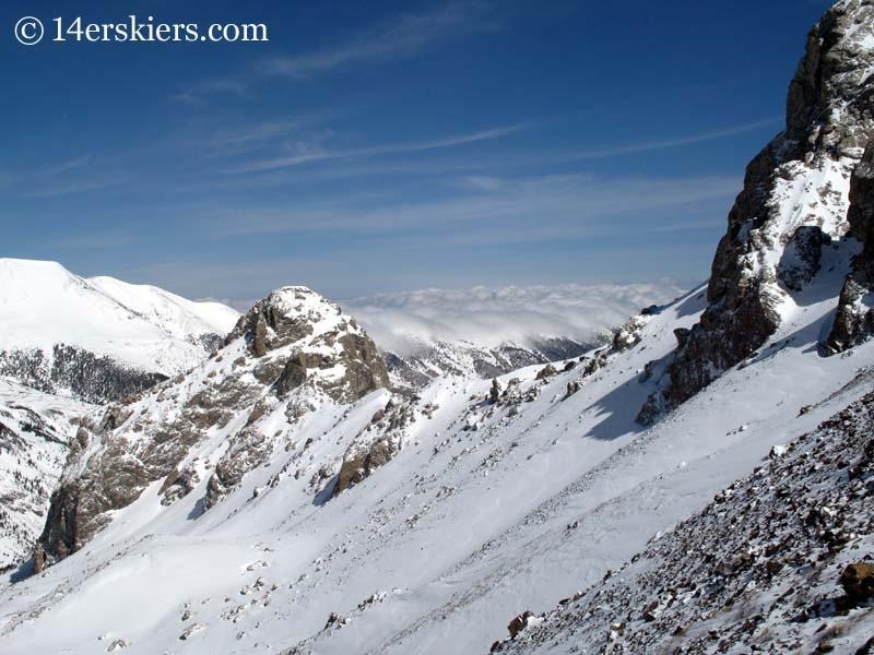 Views while climbing Mount Lindsey.