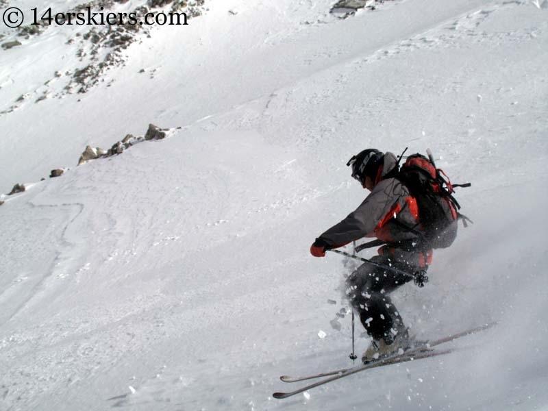 Jeremy Wegner backcountry skiing on Mount Lindsey