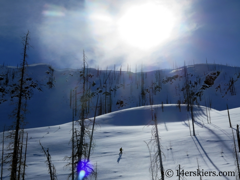 Larry Fontaine backcountry skiing Zirkel Wilderness.
