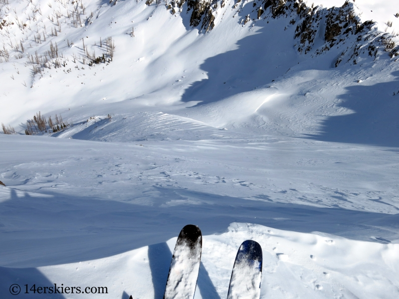 Backcountry skiing Little Agnes Mountain.
