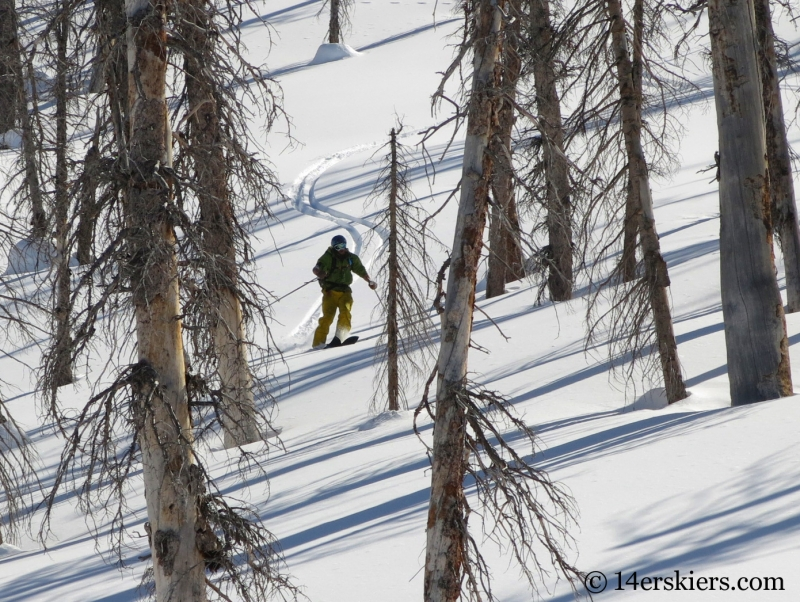 Marko Ross-Bryant backcountry skiing Zirkel Wilderness.
