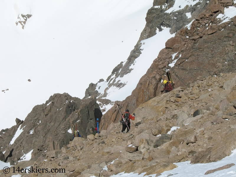 Climbing Longs Peak go to backcountry skiing.